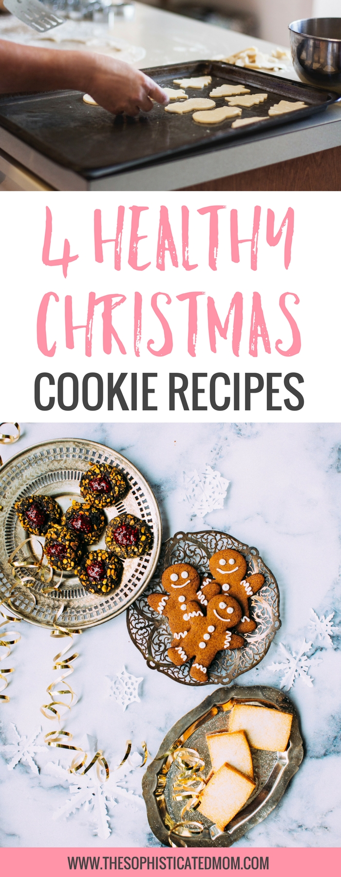 How do I make the types of cookies I grew up loving with ingredients that I would prefer and turn them into healthy Christmas cookie recipes? You will love these 4 healthy christmas cookies.