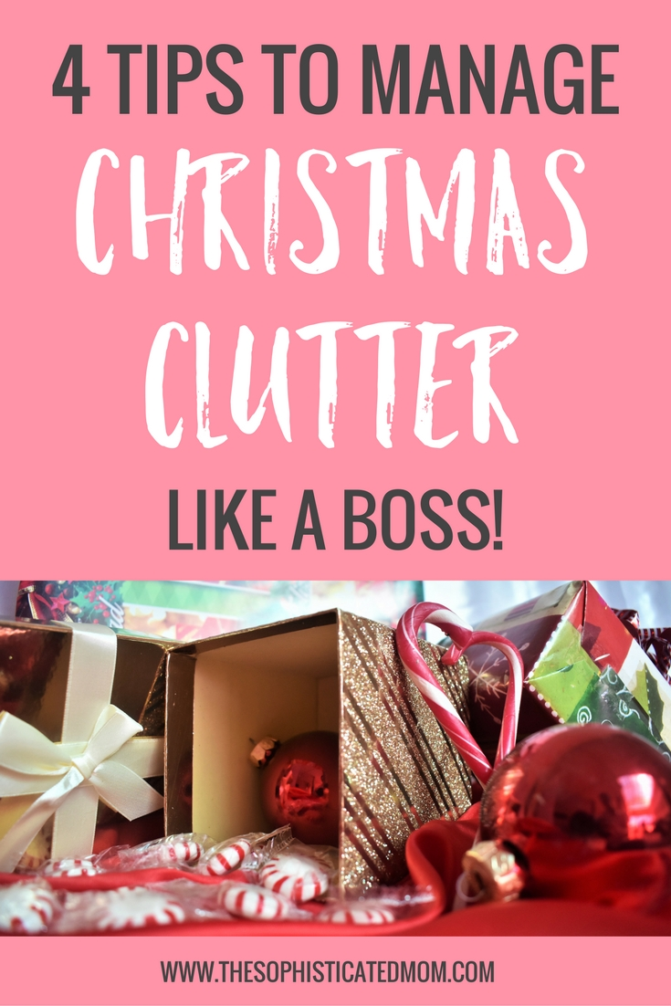 Here are a few things you can do to manage Christmas clutter and prepare for all of the new goodies that Santa is about to deliver.