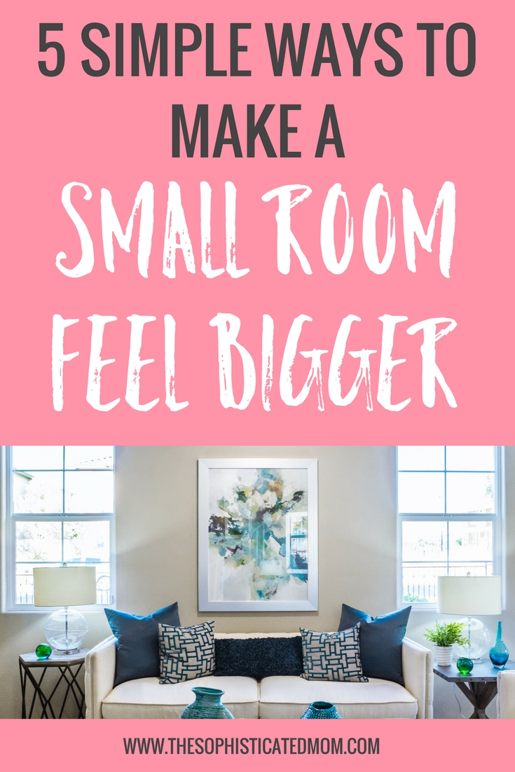 As more and more people move into cities, many find themselves downsizing and learning to make a small room feel bigger. Here are a few tips to make your sweet little bungalow have the spacious feel of the suburbs.
