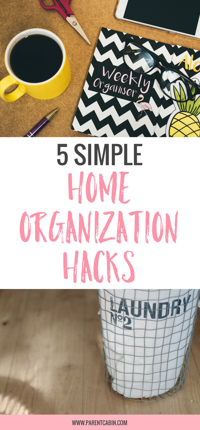 It's easy to let odds and end pile up in your home, or push a mess into a closet and tell yourself you'll get around to cleaning it later.If your resolution for this new year was to stay organized, try these 5 easy home organization hacks to transform your home.