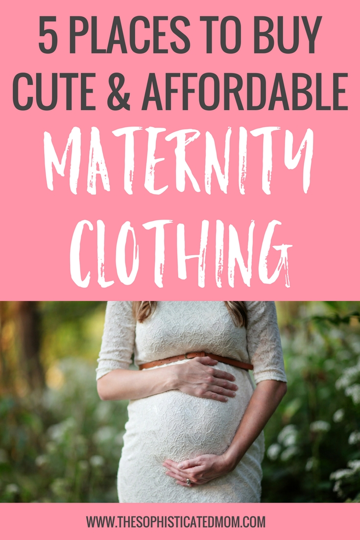 Purchasing maternity clothing can be expensive and it can be challenging to find high quality maternity clothing that will last. Just remember that you don't have to purchase an entire pregnancy wardrobe. Here are a few of my top places for buying affordable maternity clothing.